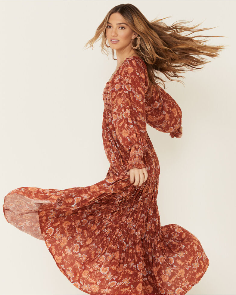Free People Women's Sweet Escape Maxi Dress, Brown, hi-res