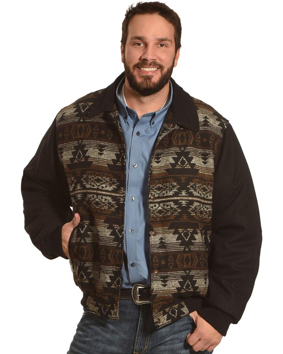 Cripple Creek Men's Brown Navajo Blanket Jacket , Brown, hi-res