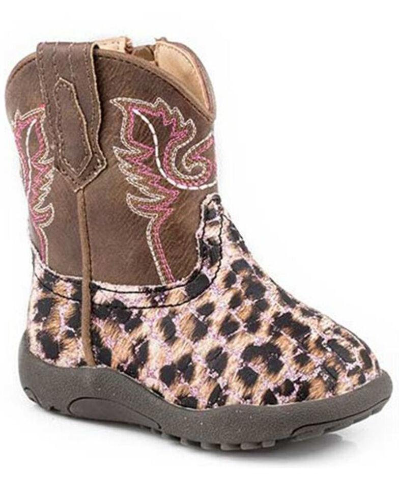 Roper Infant Girls' Glitter Leopard Poppet Boots - Round Toe, Pink, hi-res