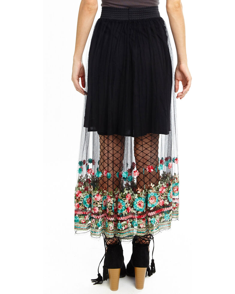 Aratta Women's Dancing Around Skirt, Black, hi-res