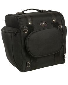 Milwaukee Leather Black Textile Motorcycle Sissy Bar Travel Bag , Black, hi-res