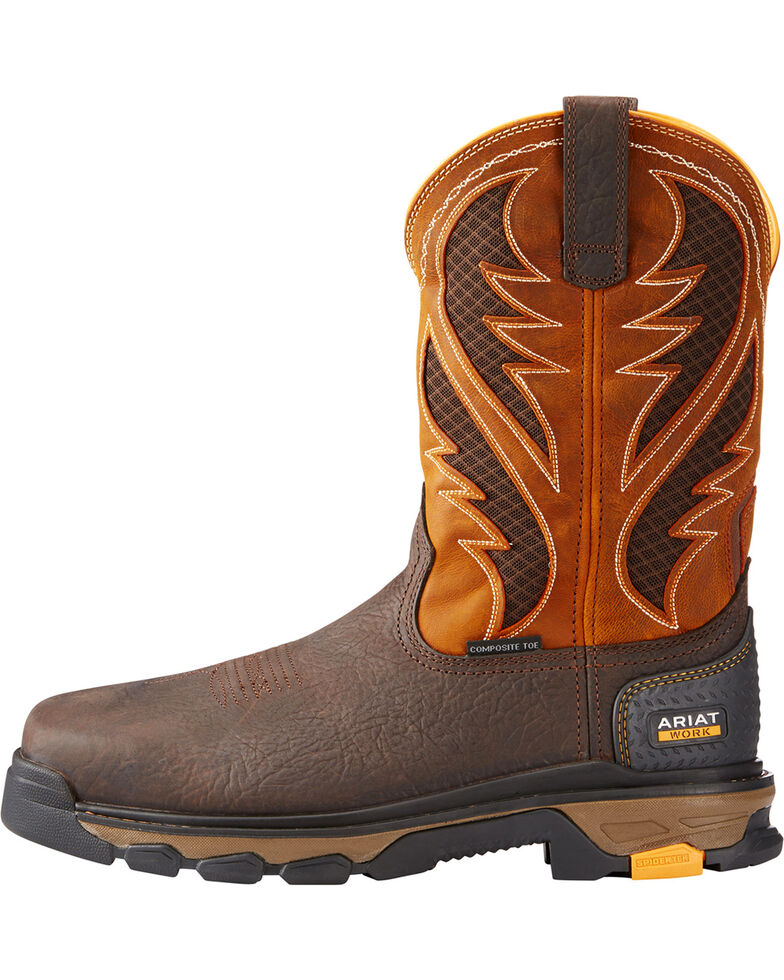 e7266458bb8 Ariat Men's Orange Intrepid VentTEK Work Boots - Composite Toe