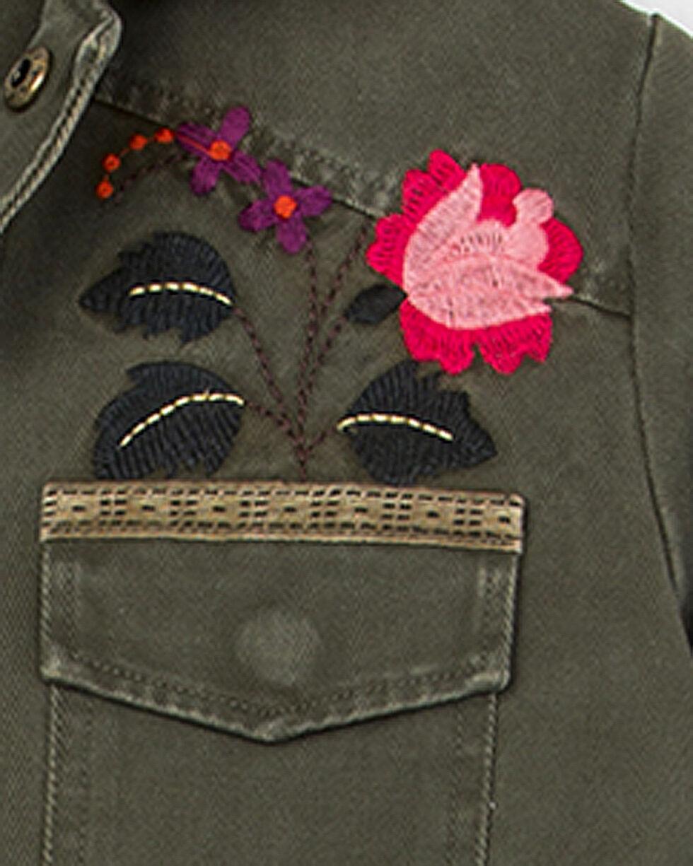 Miss Me Girls' Flower Power Jacket, Green, hi-res