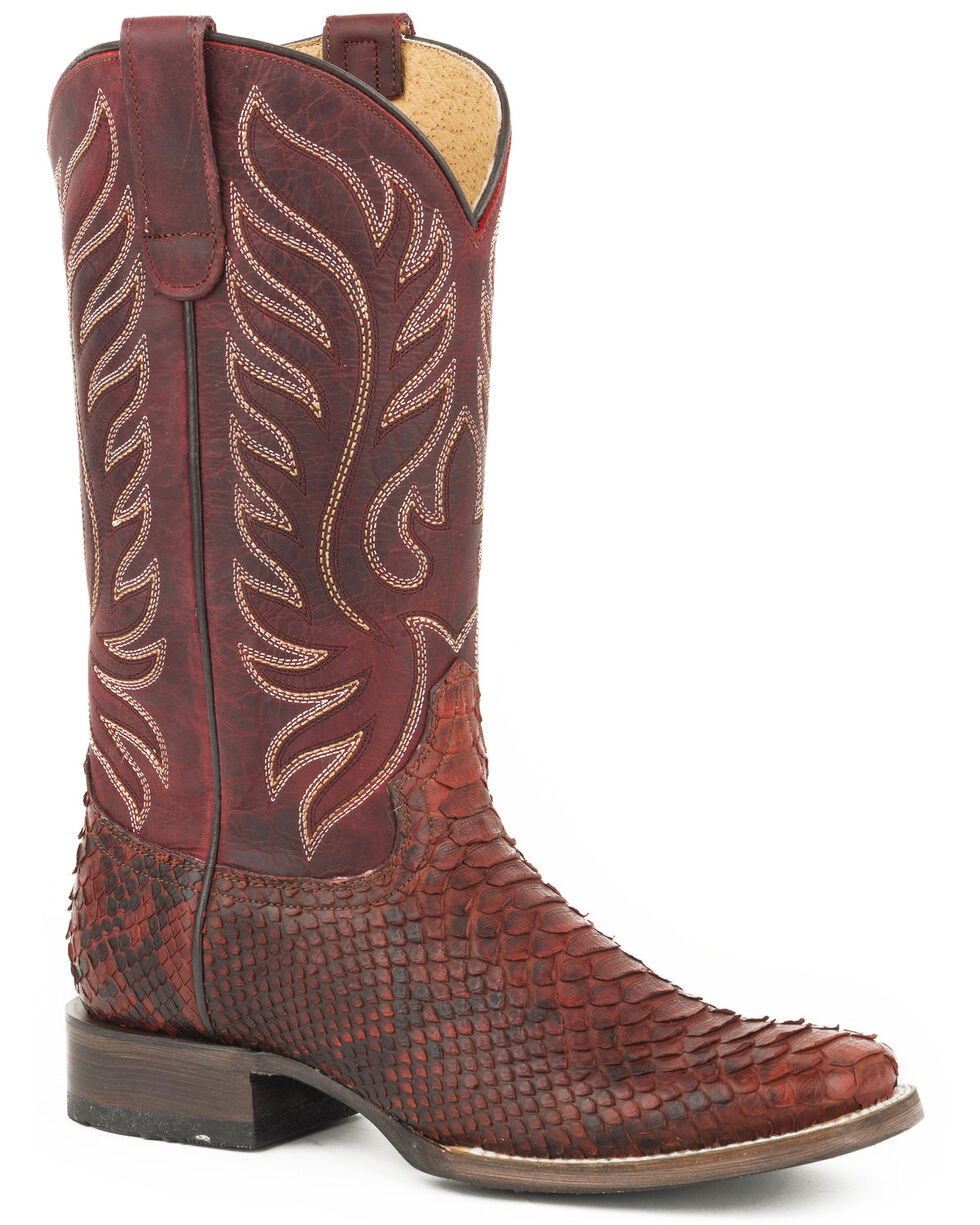 Roper Women's Red Trudy Triad Python Boots - Pointed Toe, Red, hi-res