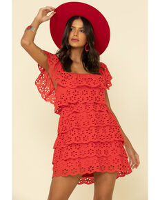 Show Me Your Mumu Women's Lucy Mini Dress , Red, hi-res