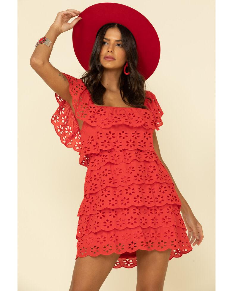 Show Me Your Mumu Women's Lucy Mini Dress , Red, hi-res