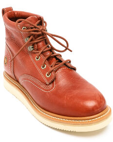 Hawx Men's Grade Wedge Work Boots - Nano Composite Toe, Red, hi-res