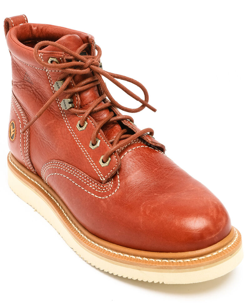 Hawx Men's Grade Wedge Work Boots - Composite Toe, Red, hi-res