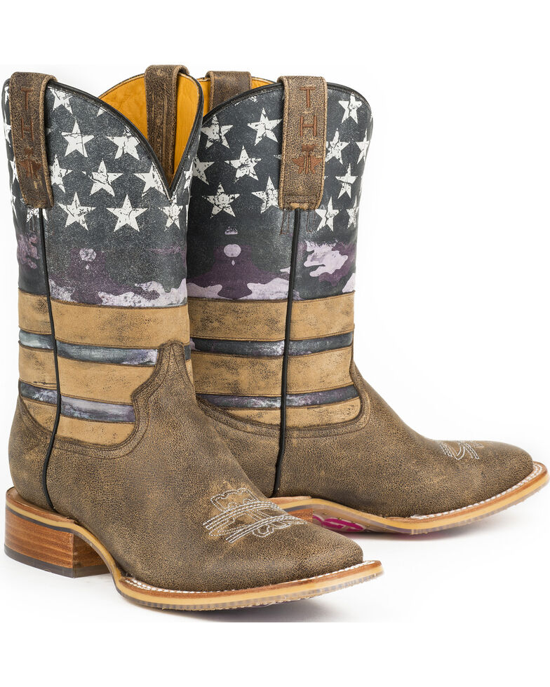 Tin Haul Women's American Woman Western Boots, Brown, hi-res
