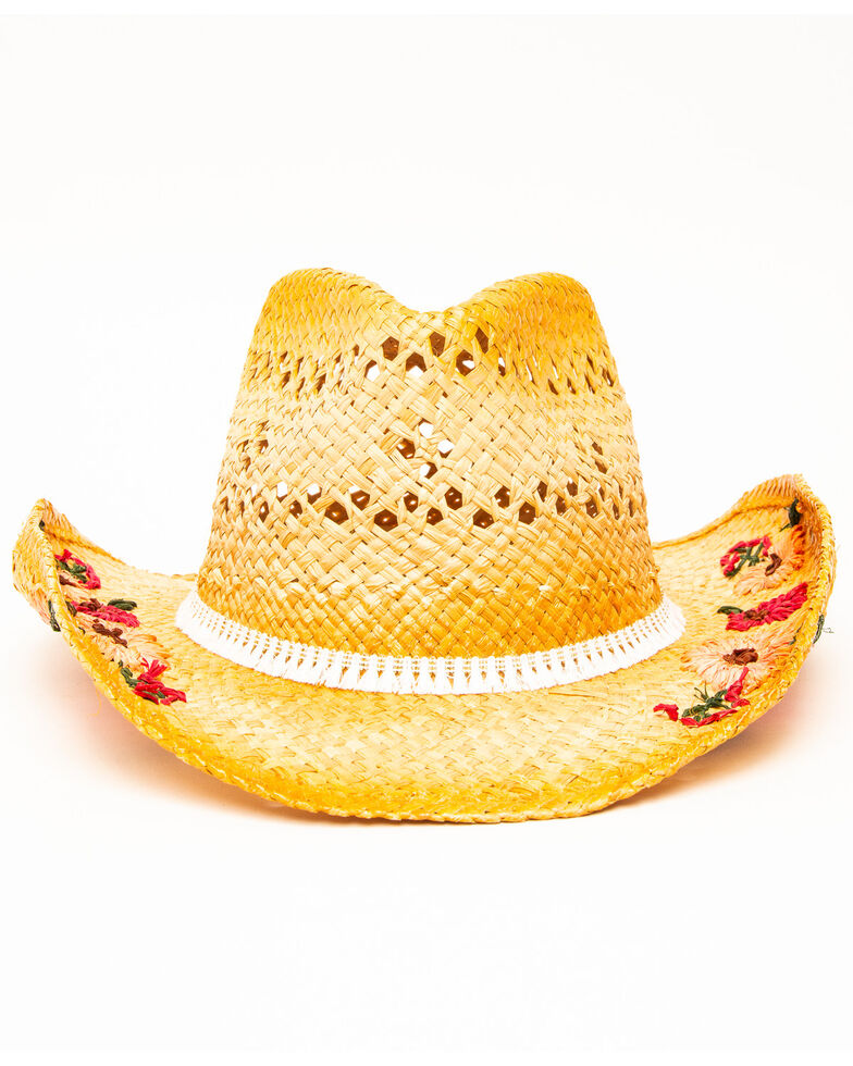 San Diego Hat Co. Women's Tea Stained Straw Hat, Natural, hi-res