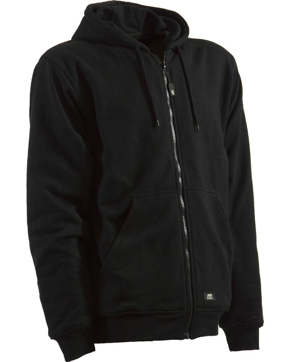 Berne Black Original Hooded Sweatshirt - 3XT and 4XT, Black, hi-res