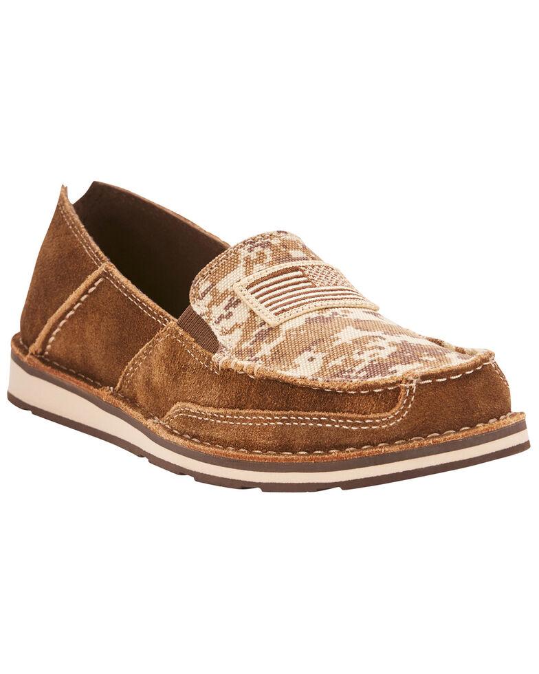 Ariat Women's Mocha Patriot Cruiser Shoes - Moc Toe, Brown, hi-res