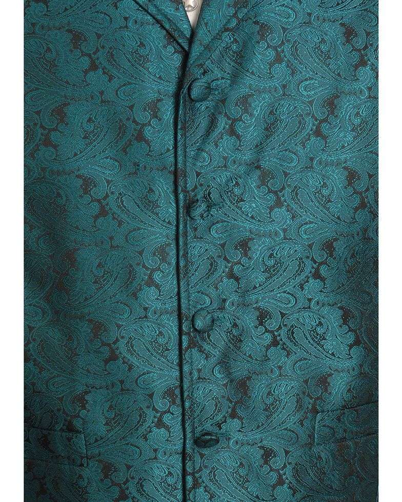 Rangewear by Scully Classic Paisley Dress Vest, Teal, hi-res