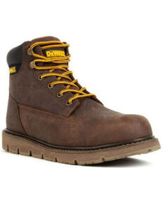 DeWalt Men's Flex Lace-Up Work Boots - Steel Toe, Brown, hi-res
