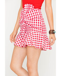 Sage the Label Women's Red Let Her Go Skirt , Red, hi-res