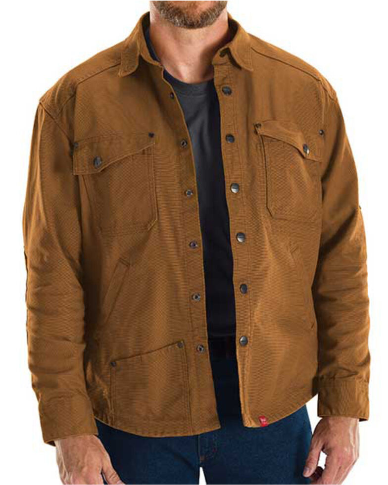 Red Kap Men's Brown MIMIX Shirt Work Jacket, Brown, hi-res