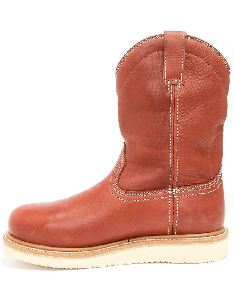 Hawx Men's Wedge Pull-On Work Boots - Nano Composite Toe, Red, hi-res