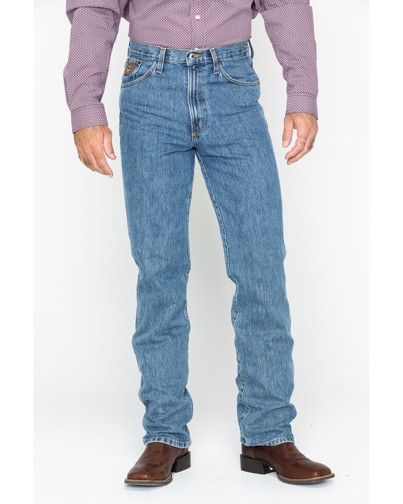 Cinch Men's Bronze Label Slim Fit Jeans, Midstone, hi-res