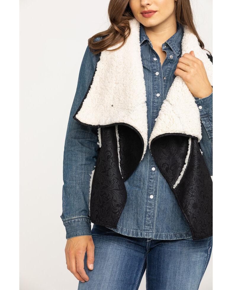 Outback Trading Co. Women's  Black Micro-Suede Madelynn Vest, Black, hi-res