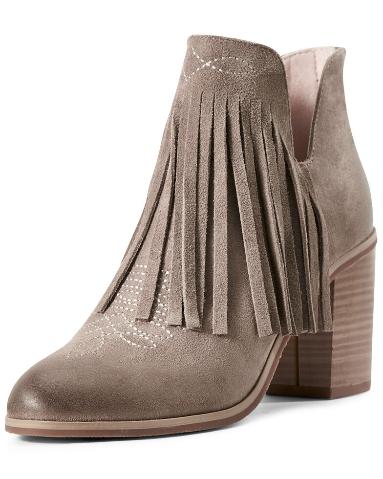 Ariat Women's Unbridled Jaxon Fashion Booties - Round Toe, Grey, hi-res