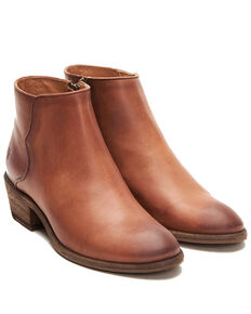 Frye Women's Carson Piping Fashion Booties - Round Toe, Cognac, hi-res