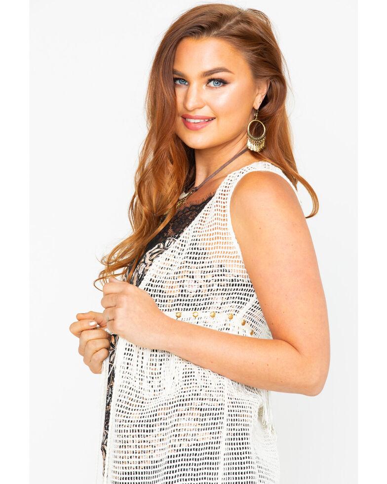 Idyllwind Women's Retro Love Crochet Vest, Ivory, hi-res