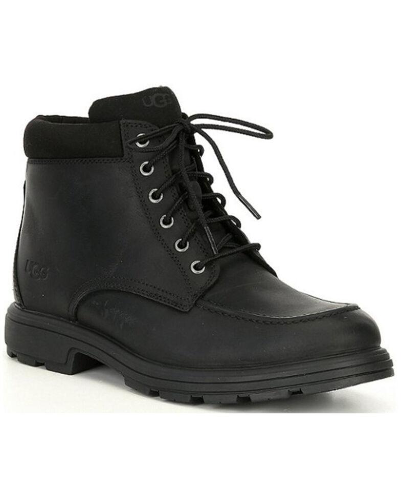 UGG Men's Biltmore Waterproof Lace-Up Boots - Moc Toe, Black, hi-res