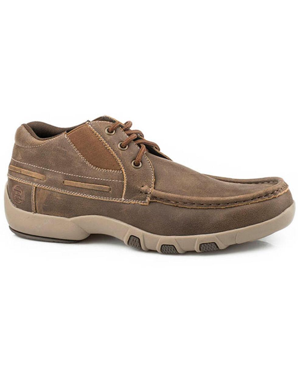 Roper Men's Docks Lace-Up Shoes - Moc Toe, Brown, hi-res