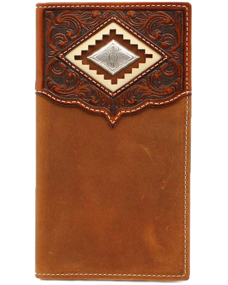 Ariat Men's Brown Diamond Concho Rodeo Wallet, Brown, hi-res