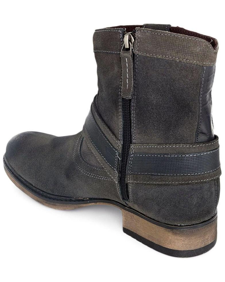 Evolutions Men's Colton II Zipper Boots - Round Toe, Dark Grey, hi-res