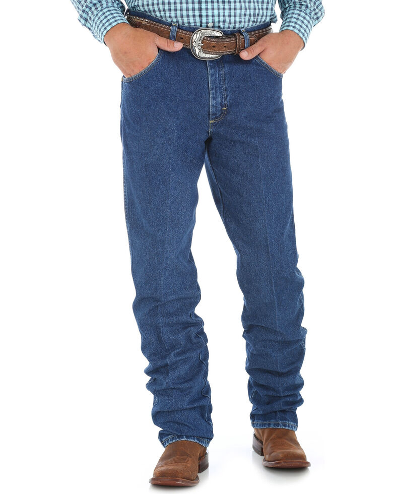 George Strait by Wrangler Men's Cowboy Cut Western Jeans, Blue, hi-res
