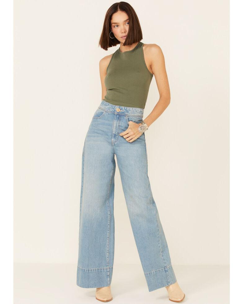 Free People Women's Talia Trouser Jeans, Blue, hi-res