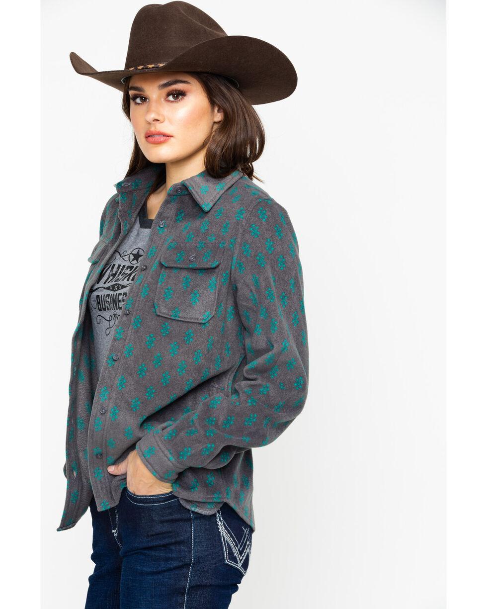 As Real As Wrangler Women's Gargoyle Long Sleeve Top, Grey, hi-res
