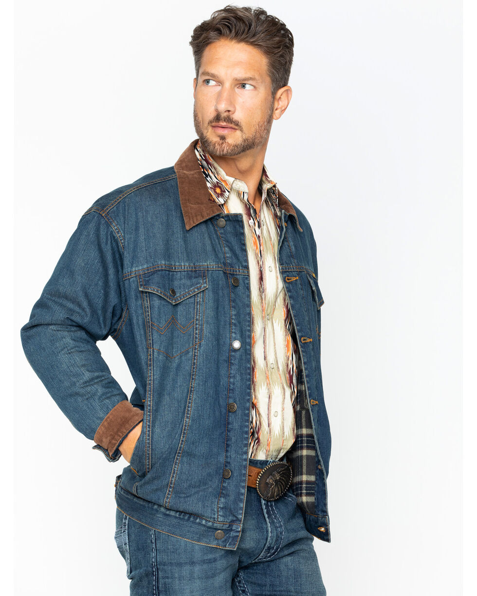 Wrangler Men's Concealed Carry Blanket Lined Denim Jacket , , hi-res