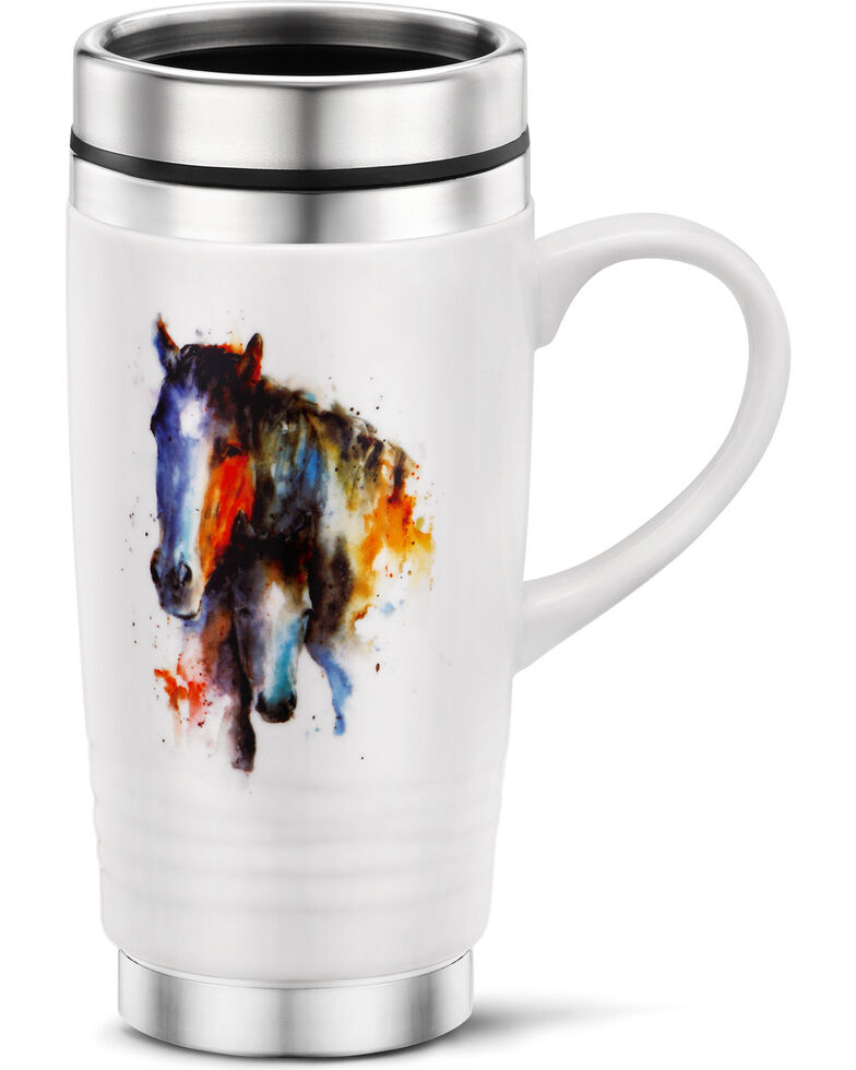 Big Sky Carver's A Mother's Love Mare & Foal Travel Mug, White, hi-res