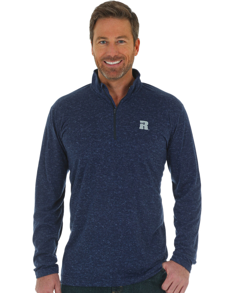 Wrangler Men's Navy RIGGS 1/4 Zip Performance Pullover , Navy, hi-res