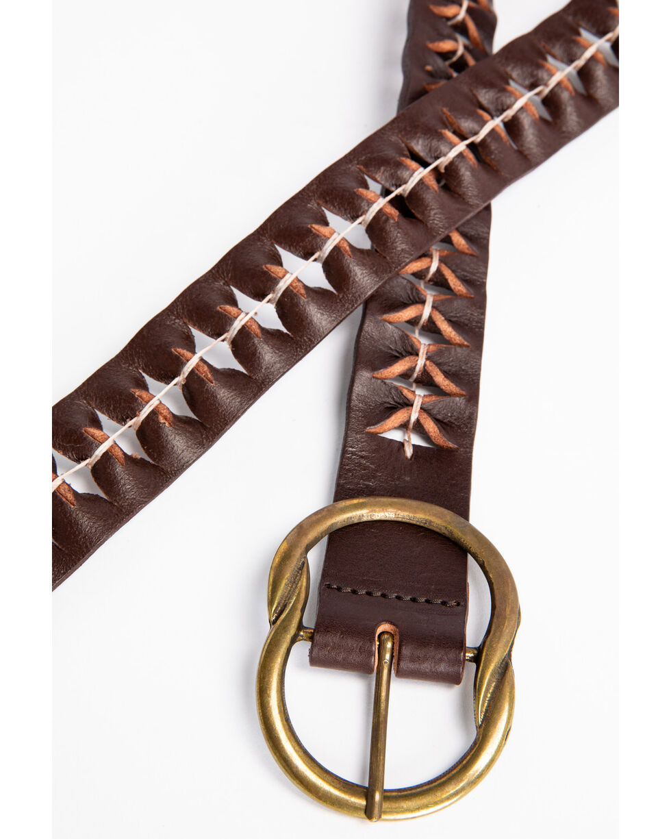 Idyllwind Women's Holes For Days Bronze Buckle Belt, Brown, hi-res