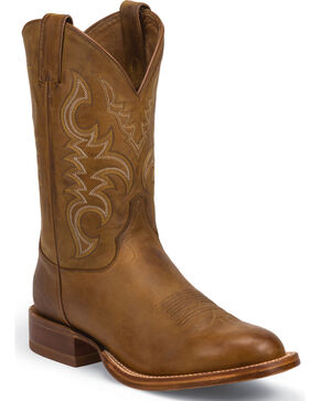 Justin Men's Punchy CPX Western Boots, Golden Tan, hi-res