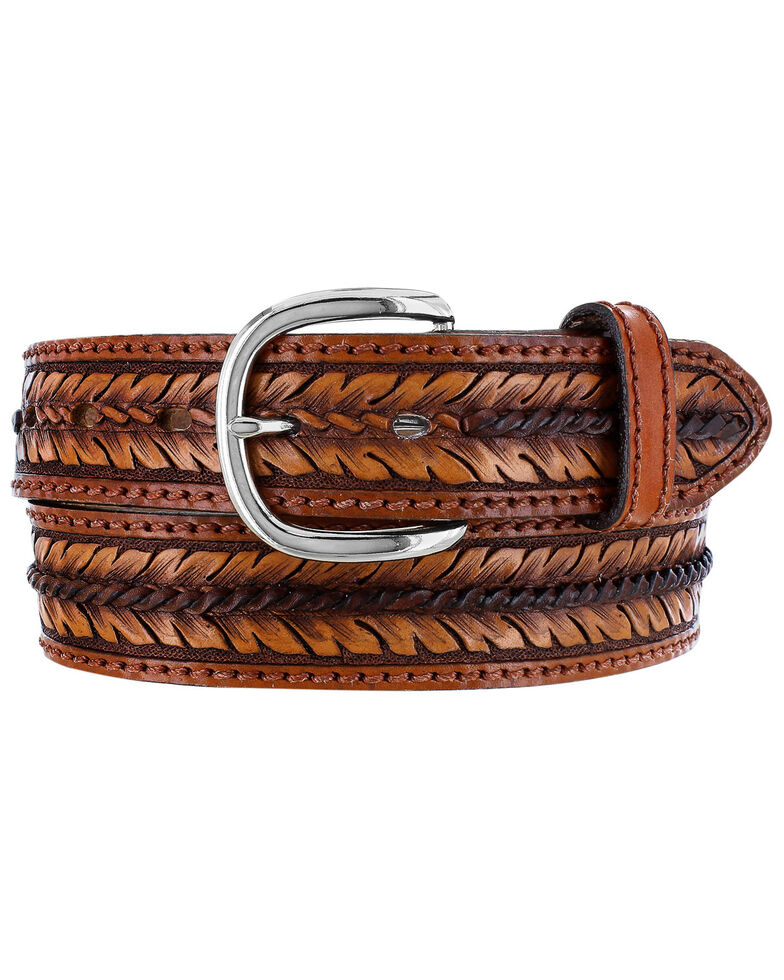 Tony Lama Men's Vaquero Viejo Western Belt, Brown, hi-res