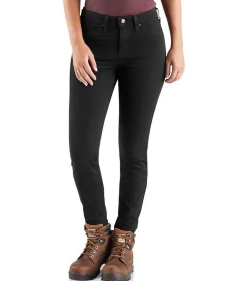 Carhartt Women's Rugged Flex Slim Fit Work Pants , Black, hi-res