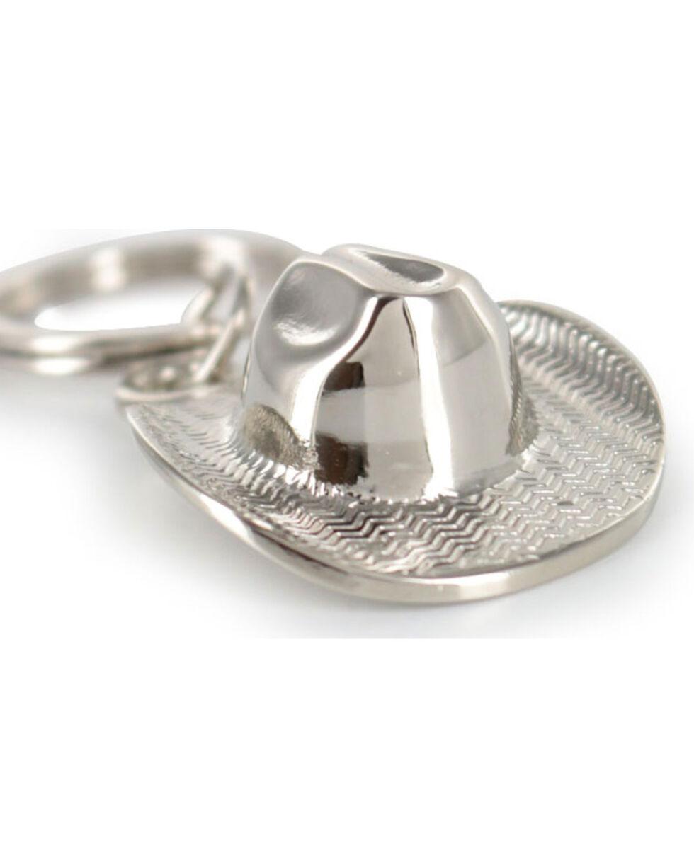 Cody James® Cowboy Hat Keychain, Silver, hi-res