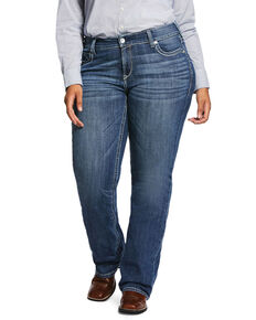 Ariat Women's R.E.A.L Hannah Bootcut Jeans - Plus, Blue, hi-res