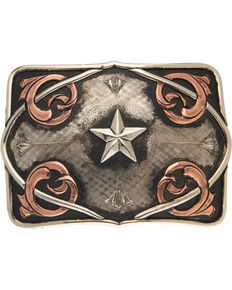AndWest Men's Coyote Vintage Star Belt Buckle, Multi, hi-res