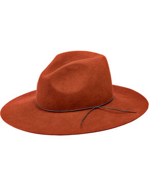 Peter Grimm Zima Flat Brim Hat, Orange, hi-res
