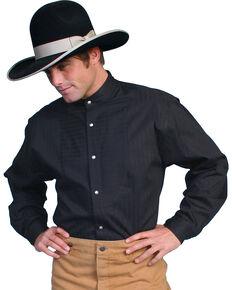 Scully Men's Striped Long Sleeve Shirt, Black, hi-res