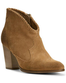 Ariat Women's Unbridled Eva Distressed Fashion Booties - Medium Toe, Tan, hi-res