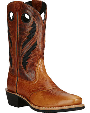 Ariat Men's Heritage Roughstock Western Boots, Tan, hi-res