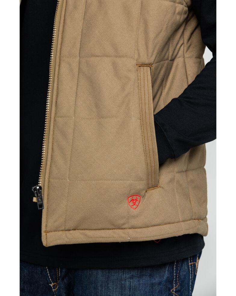 Ariat Men's FR Crius Insulated Work Vest - Tall , Beige/khaki, hi-res