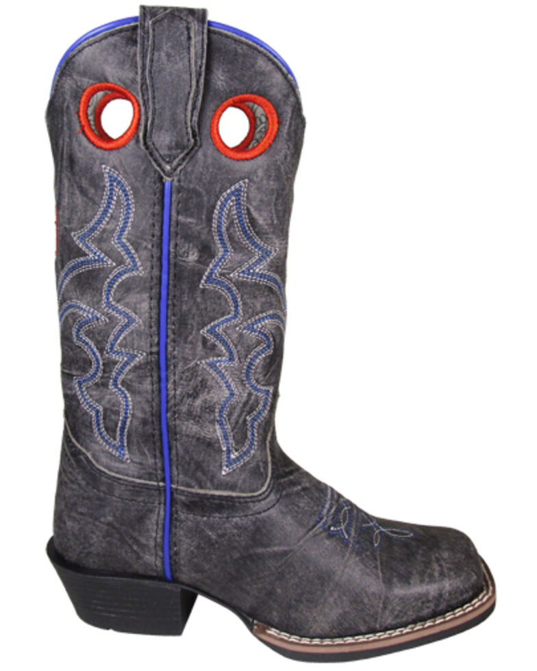 Smoky Mountain Youth Girls' Rosalie Western Boots - Square Toe, Black, hi-res