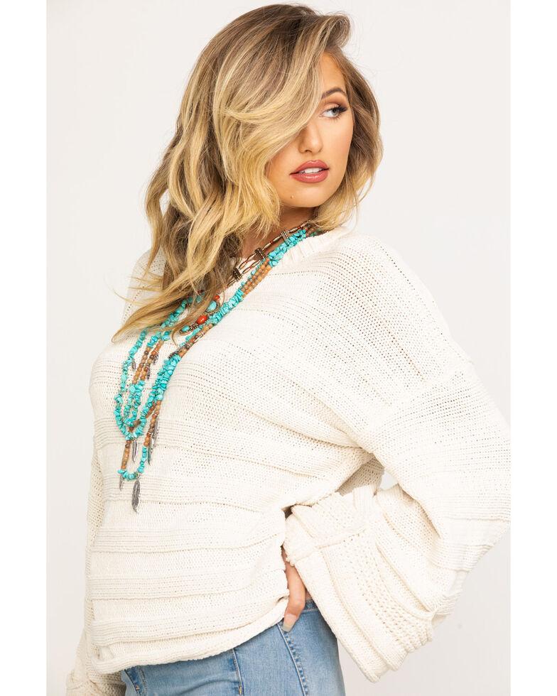 Show Me Your Mumu Women's Cream Tulsa Knit Stripe Sweater , Cream, hi-res